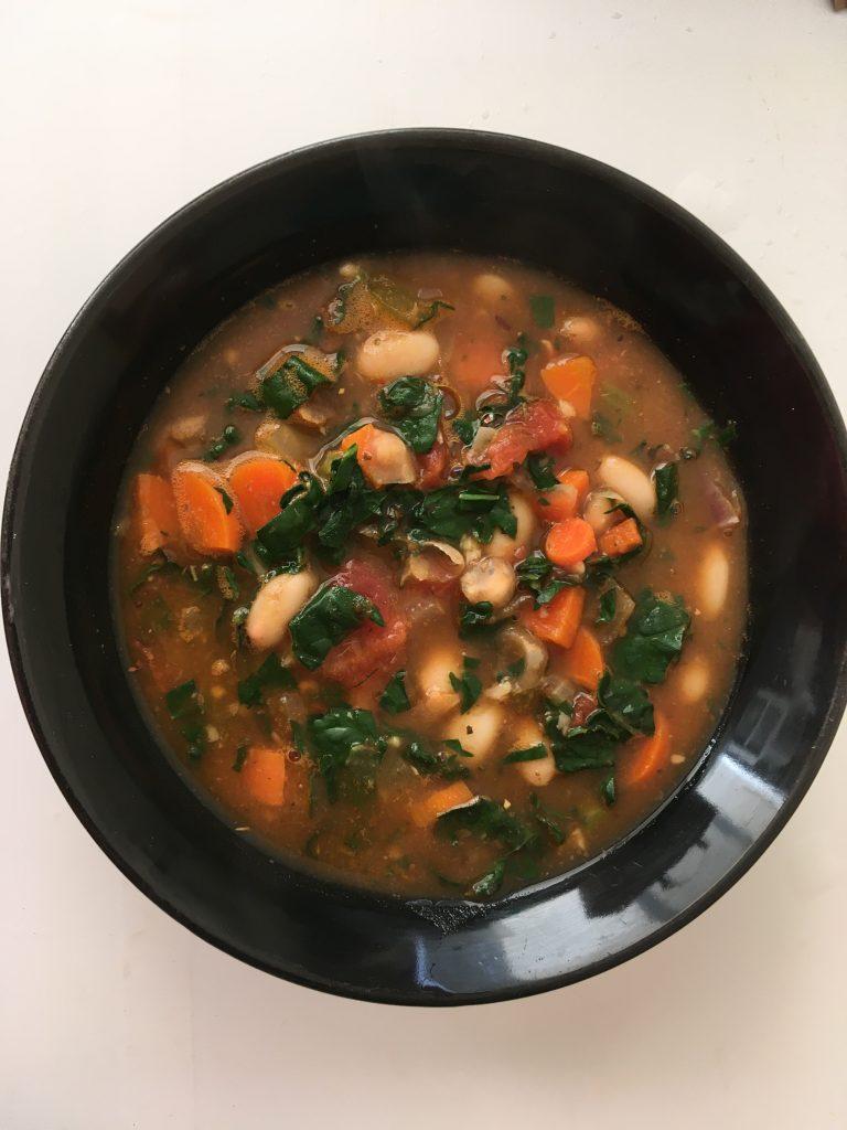 Bowl of Kale Bean Soup